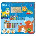 AMOS SD10P10-DC 10色玻璃彩連12小掛牌套裝(猫狗)