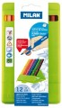 西班牙 MILAN 0729712 防斷12色膠盒三角木顏色