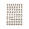 HERMA 4193 數字貼紙(金字) 0-9