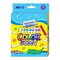 AMOS CM12P-L 12色水彩顏色筆(可水洗)