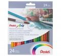 PENTEL CB9-24 24色水溶木顏色筆