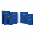 GRANDLUXE 010591 A5 精裝藍面索引單行簿(192頁)