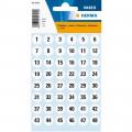 HERMA 4124 數字貼紙(白底黑字) 1-240