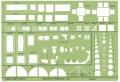 Linex 1259S 圈板尺(通用建築模板) 1:50