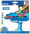 西班牙 MILAN 0742324 防斷水溶24色三角木顏色