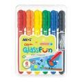 AMOS GF6PC 6色膠盒<玻璃>蠟筆