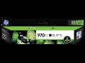 HP 970XL 高容量黑色原廠墨盒(CN625AA)