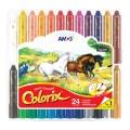 AMOS CRX5PC24 24色膠盒<水溶>粗蠟筆(直徑12mm)