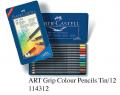FABER 114312 12色三角木顏色(鐵盒裝)