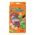 AMOS SD10P6-D 6色玻璃彩連6小掛牌套裝