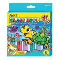 AMOS GD10P6 盒裝玻璃彩套裝(6支裝)