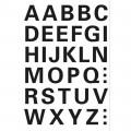 HERMA 4163 英文字母貼紙(黑字) A-Z