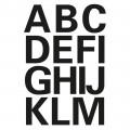 HERMA 4167 英文字母貼紙(黑字) A-Z