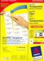 德國詩藝寶 ZWECKFORM L4770,L4772,L4777,3480 透明(磨砂)鐳射 + 影印二用標籤(20張裝)