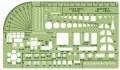 Linex 1258S 圈板尺(通用建築模板) 1:100