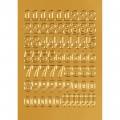 HERMA 4184 數字貼紙(金字) 0-9