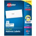AVERY 5160/5161/5162/5163/5164/5165/5168/5267白色鐳射打印標籤(100張裝) Letter Size