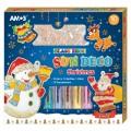 AMOS SD10P10-CH 10色玻璃彩連12小掛牌套裝(聖誕版) ** 售罄 **