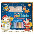 AMOS SD10P10-CH 10色玻璃彩連12小掛牌套裝(聖誕版)