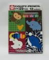 日本櫻花牌 SAKURA XFY12-01 可擦臘筆(12色紙盒裝)