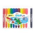 AMOS GF12PC 12色膠盒<玻璃>蠟筆