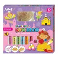 AMOS SD10P10-P 10色玻璃彩連12小掛牌套裝(公主)