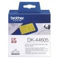 Brother DK-44605 可移除紙質標籤帶(黃底黑字) - 62mm x 30M
