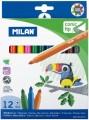 西班牙 MILAN 0612312 631大咀鳥12色粗水筆