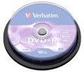 Verbatim DVD+R 16X 10pk Spindle - 43498
