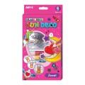 AMOS SD10P6-J 6色玻璃彩連6小掛牌套裝