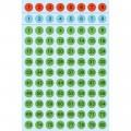 HERMA 4129 數字貼紙(彩色底黑字) 1-160