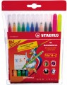 STABILO Trio A-Z 378-1-12 -01 12色三角水彩筆(0.7mm)