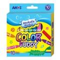 AMOS CM10P-M 10色<粗>水彩顏色筆(可水洗)