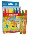 克麗 COLLEEN SC-12 12色珍寶蠟筆(直徑14mm)