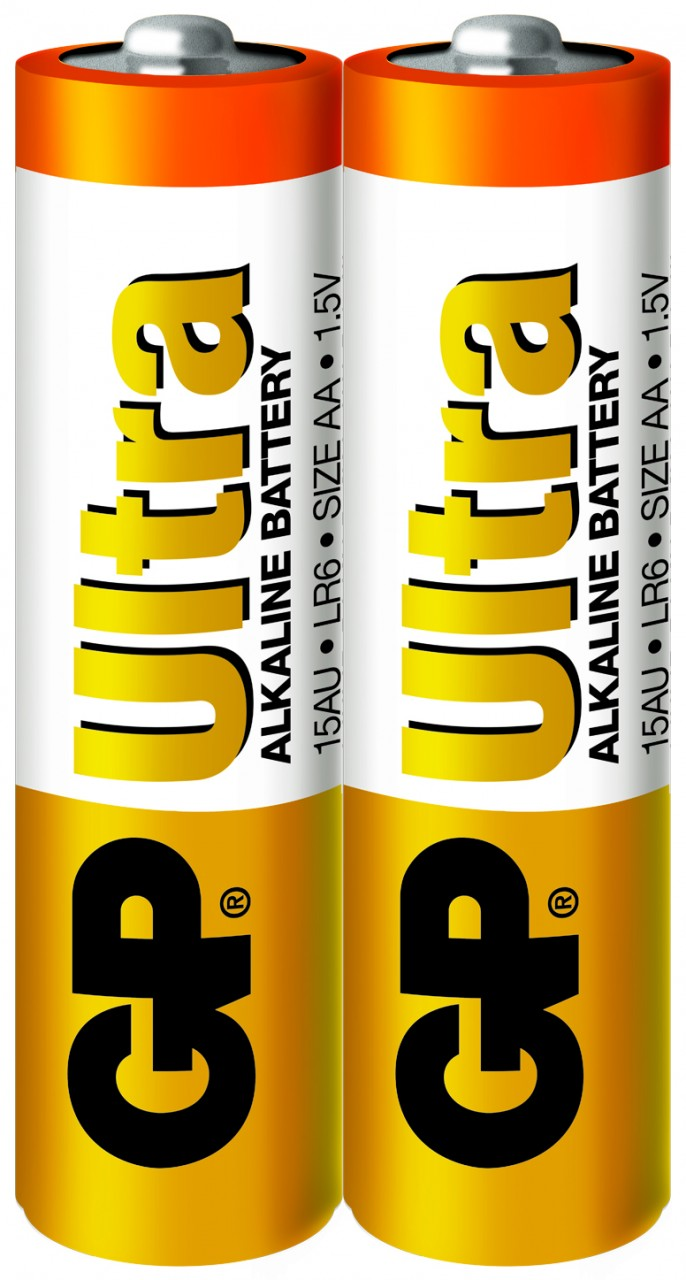 GP AA,ULTRA Alkaline Batteries(2 pieces)