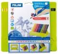 西班牙 MILAN 0729724 防斷24色膠盒三角木顏色
