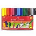 Faber-Castell 66-2000-12 12色珍寶型水彩筆