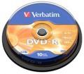 Verbatim DVD-R 16X 10pk Spindle - 43523
