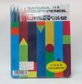 日本櫻花牌 SAKURA FY-12 可擦臘筆(12色鐵盒裝)