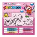 AMOS SD10B6-D2 6色玻璃彩連1中2細掛牌套裝