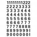 HERMA 4159 數字貼紙(黑字) 0-9