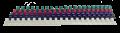 HOLLIES A4 22MM-51MM 釘裝膠圈 (21圈)-50條裝