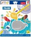西班牙 MILAN Super Soft 0792612 12色特粗三角防斷木顏色