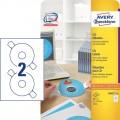 德國詩藝寶 ZWECKFORM 6015 噴墨+鐳射+影印三用光碟標籤 41mm (附定位器) 25張裝