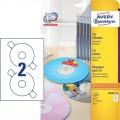 德國詩藝寶 ZWECKFORM 6043 噴墨+鐳射+影印三用光碟標籤(41mm) 25張裝