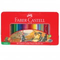 Faber-Castell 115893 60色裝木顏色(鐵盒裝)