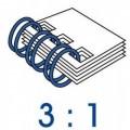 M&A 雙線鐵圈 3孔:1吋/A4=34齒
