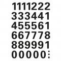 HERMA 4164 數字貼紙(黑字) 0-9