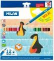 西班牙 MILAN 0722612 12色三角特粗防斷木顏色筆
