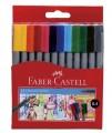 Faber-Castell 555812 12色幼線水筆(0.4mm)